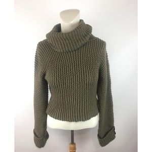 Chelsea & Violet Chunky Knit Crop Top Sweater
